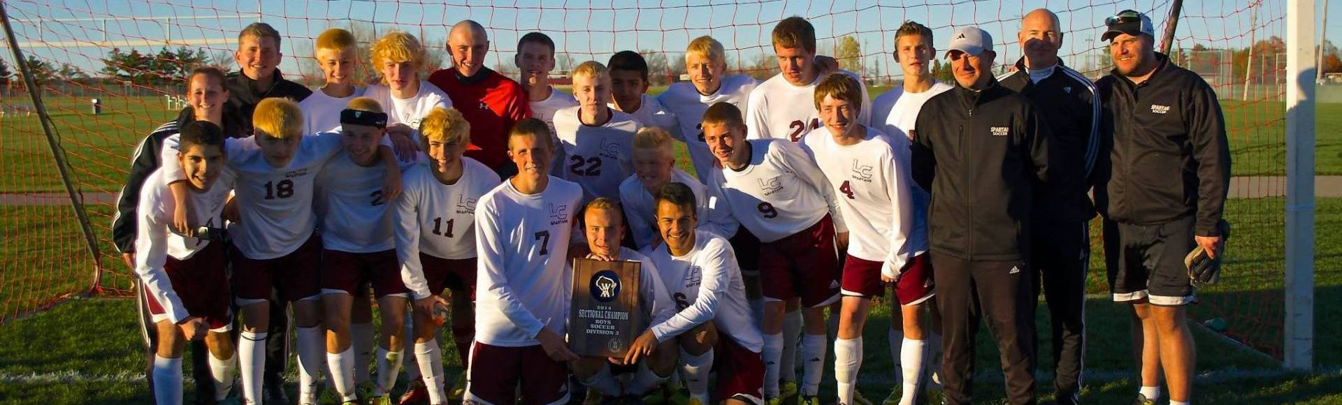 Luxemburg-Casco Spartans defeat Notre Dame Academy 1-0 to earn their first Sectional Championship and berth at state.